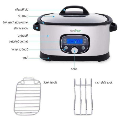 NutriChef Countertop Multi-Cooker Pro Sous Slow with