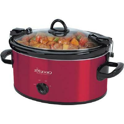 Crock-Pot Cook & Carry Manual Slow Cooker, 6-Quart NEW RED
