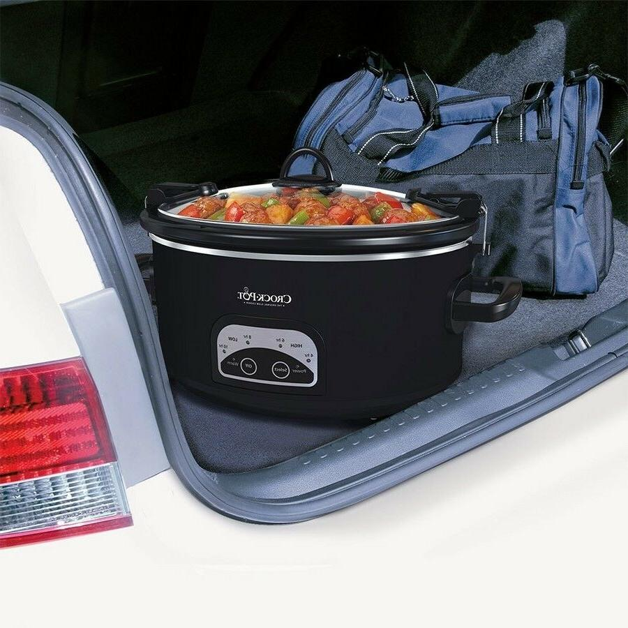 Crock-Pot 6qt Programmable Cook & Locking Lid Black