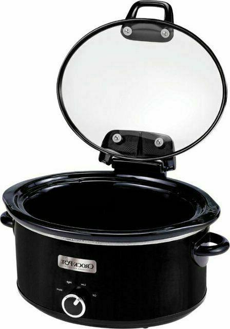 Crock-Pot - 6qt Slow Cooker - Black