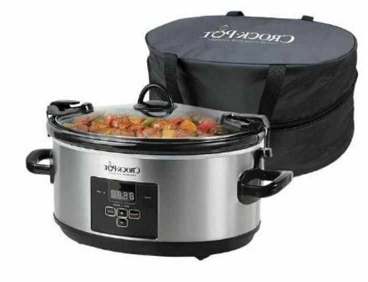 crock pot 7 quart programmable slow cooker
