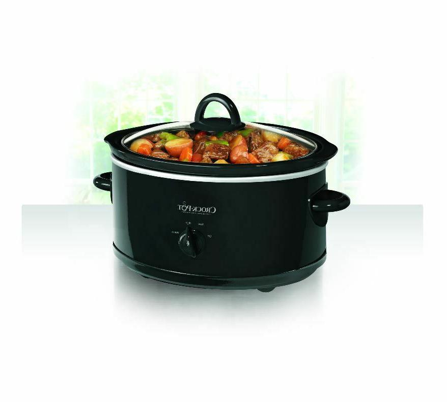 Crock-Pot Slow Cooker Carry Portable Stainless Steel Black