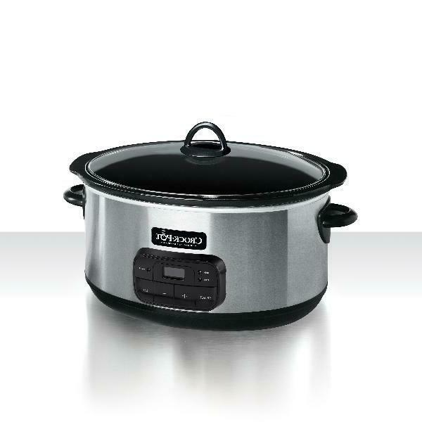 Crock Slow Cooker 8 Quart Programmable Oval Shape 10+