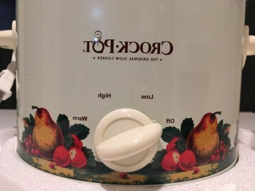 Crock-Pot Classic White qt Removable Stoneware 3 Settings