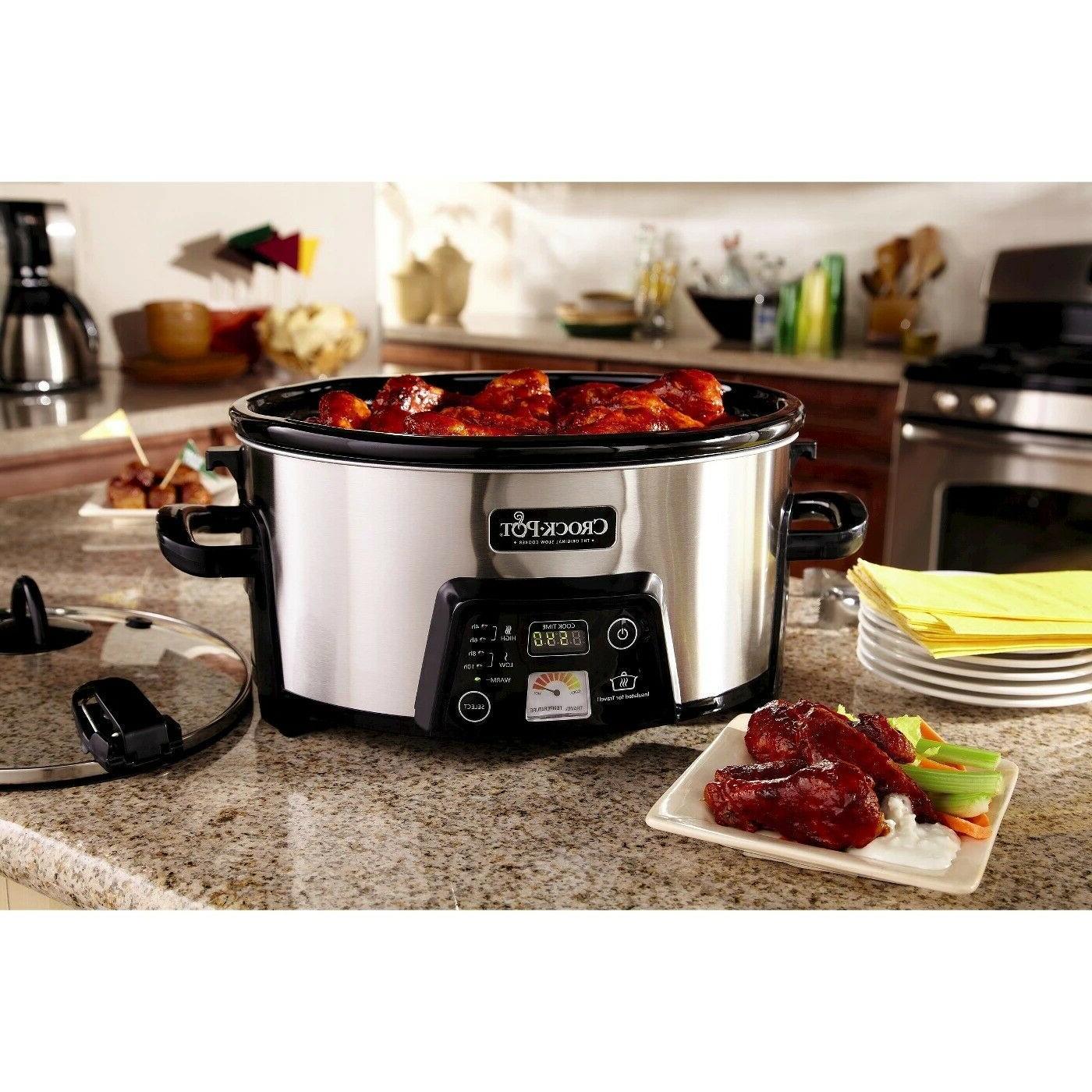 crock pot cook and carry digital slow