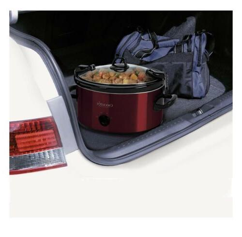 Crock-Pot Cook Manual Cooker, FAST FREE Shipping NEW RED