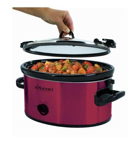 Crock-Pot Cook & Manual FAST FREE Shipping RED