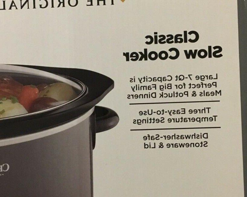 Crock Shine 7-qt. Cooker Charcoal Slow