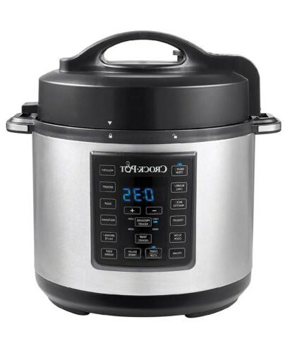 crock pot express crock programmable multi cooker stainless