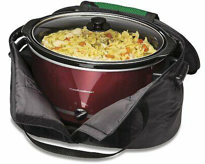 Insulated Carrier Travel for Crock Pot Hamilton Oval 4 - 8 Quart Cooker