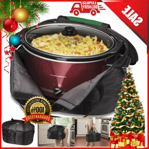 crock pot hamilton insulated carrier travel bag