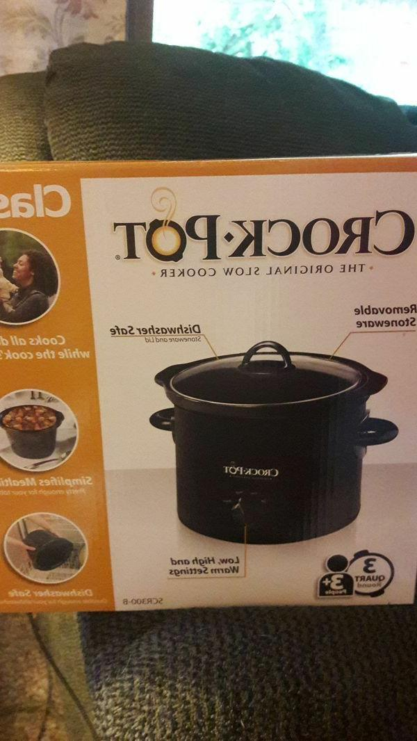 Crock-Pot Manual Slow Cooker, 3 Quart