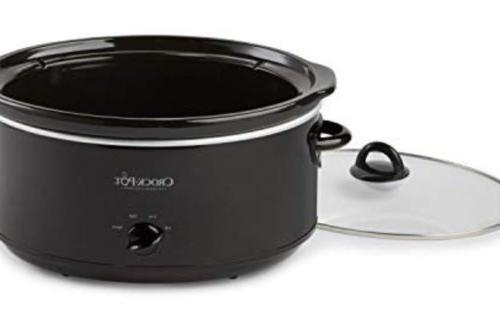 crock pot oval manual slow cooker black