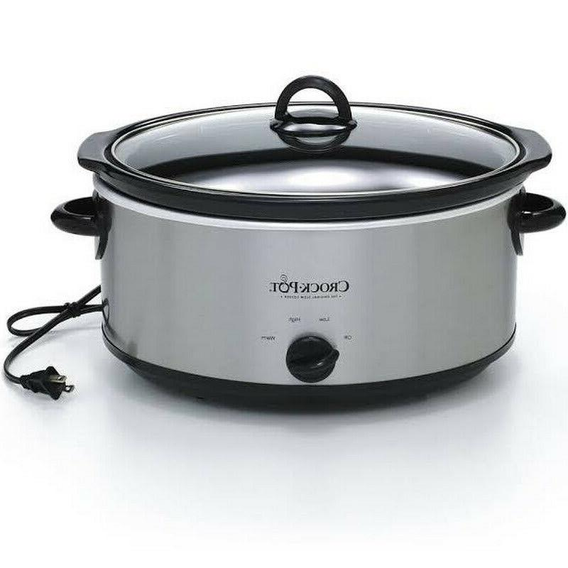 Crock-Pot Oval Cooker, Stainless 7 qt