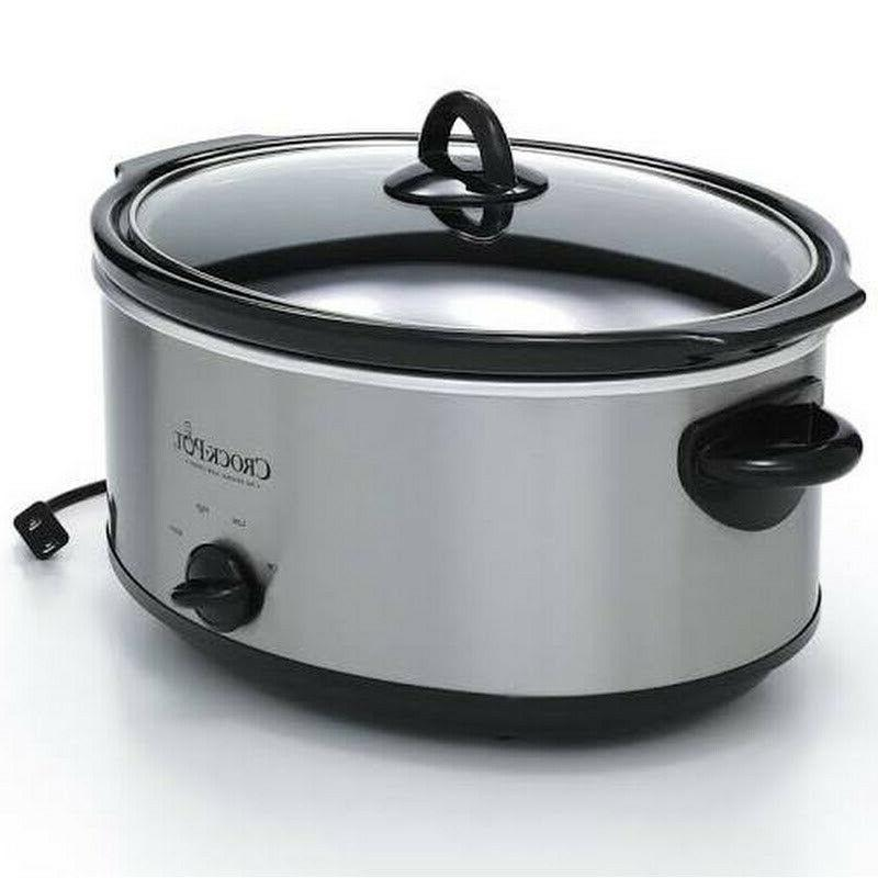 Crock-Pot Oval Manual Cooker, Stainless 7