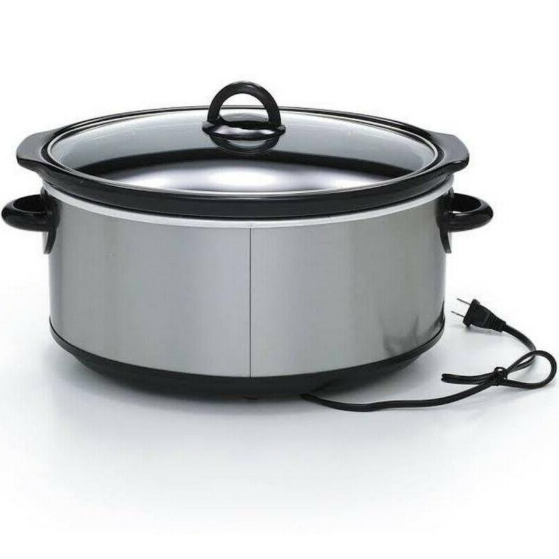 Crock-Pot Oval Cooker, Steel 7 qt