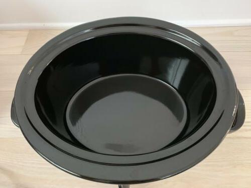 Crock-Pot Carry 6-Quart Oval Portable Slow Cooker Pot
