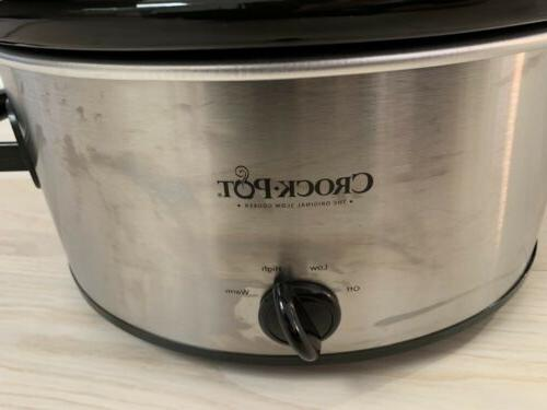 Crock-Pot SCCPVL600S Cook' Carry 6-Quart Portable Slow Cooker