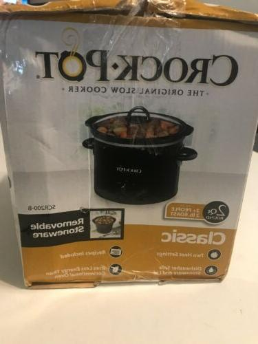 Crock Pot SCR200B Round Manual 2 Slow Cooker