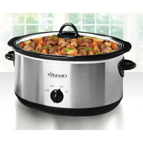 CROCK POT 7 Qt Oval Manual Stainless Cooking