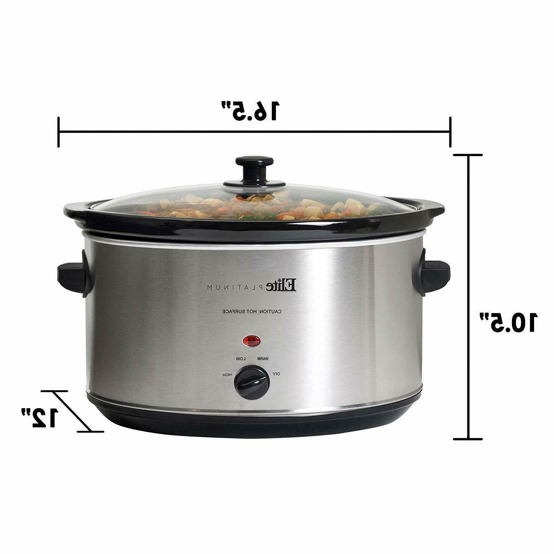 Crock-Pot Slow Large Oval Steel Crockpot