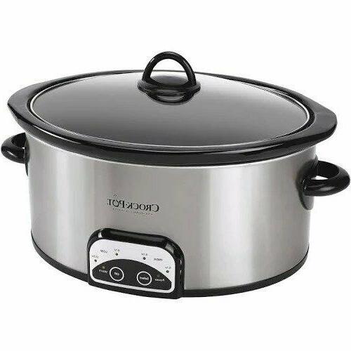 Crock-Pot Smart Pot 6 Qt Programmable Slow Cooker Steel Stai