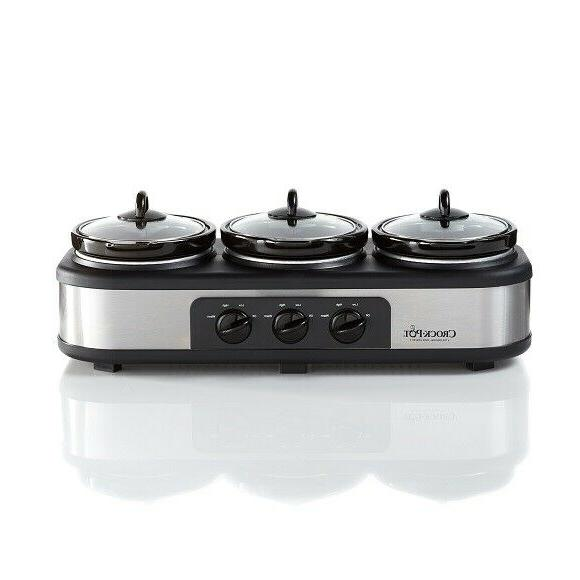 crock pot stainless steel trio cook