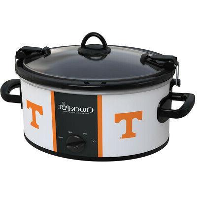 crock pot tennessee volunteers collegiate 6 quart cook carry