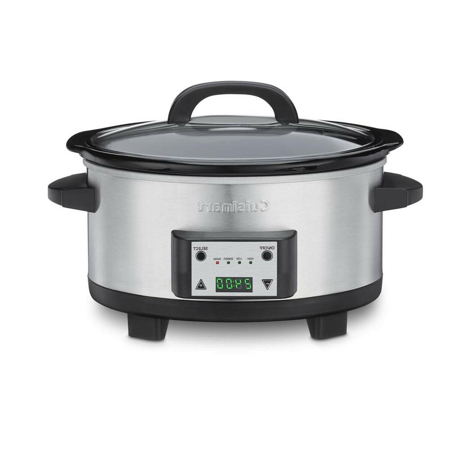 Cuisinart 6.5-Quart Programmable Slow Cooker , Brushed Stain