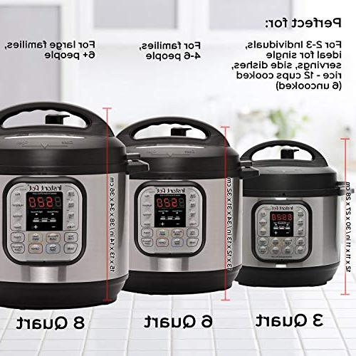 Instant Pot Mini 3 7-in-1 Multi- Use Programmable Slow Cooker, Rice Steamer, and