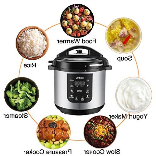 DEMU Electric Pressure 7-in-1 Cooker with Lid Steam