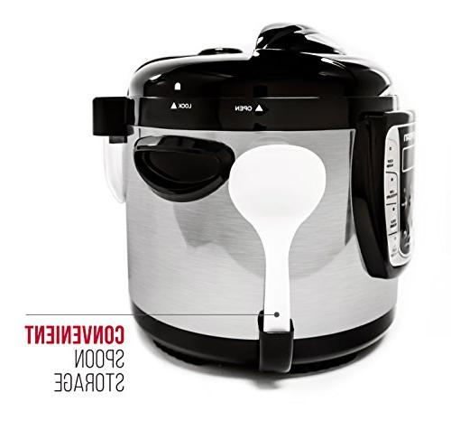 Chefman Multicooker, Pressure Cooker, in an Pot Multifunctional Slow Cooker/Steamer, Maker