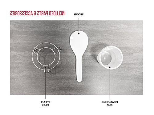 Chefman Qt. Pressure Dishes in Aluminum Slow, Rice Cooker/Steamer, Quart