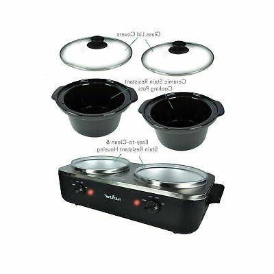 Electric Cooker Crock Pot Food Warming Soup Tray P...