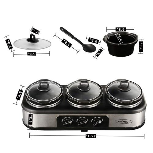 Electric Slow Warmer Pot for Party, Qt