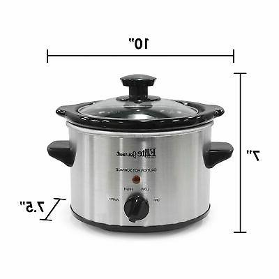 Electric Crock Pot Mini Steel 1.5 Qt