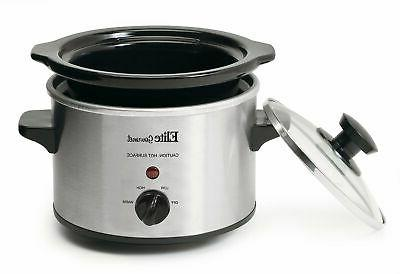 Crock Pot Stainless Steel Cooking 1.5 Qt
