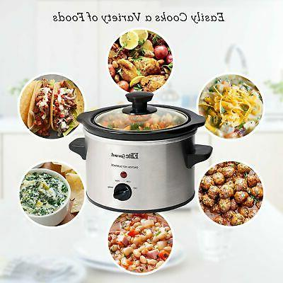 Electric Slow Cooker Steel Qt