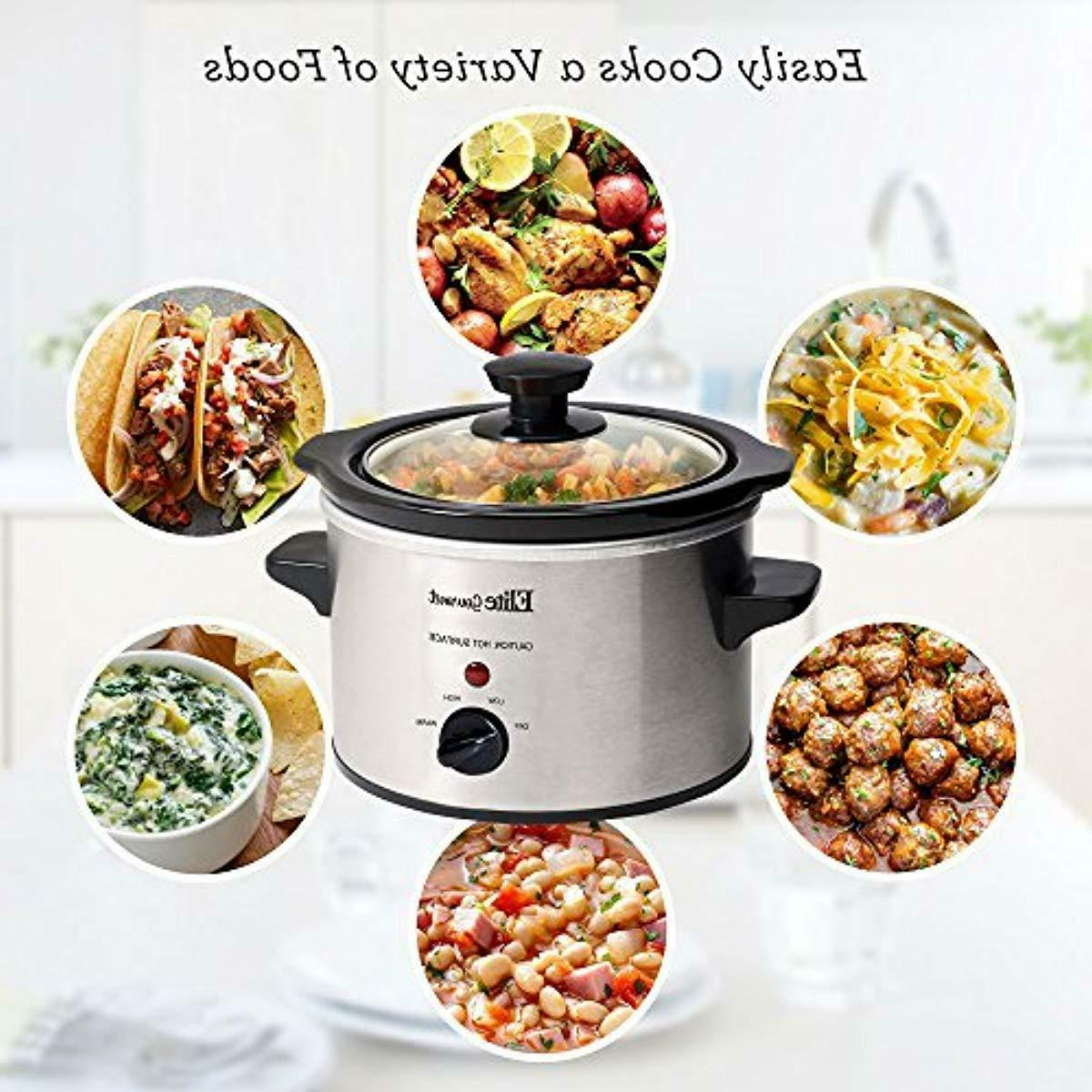 Electric Slow Cooker Crock Stainless Qt