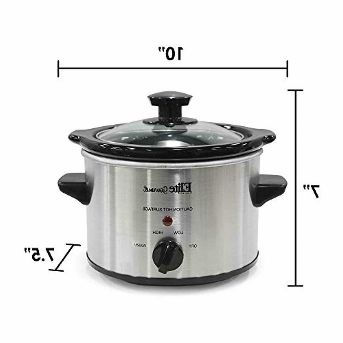 Electric Cooker Crock Pot Steel Cooking Quart Qt