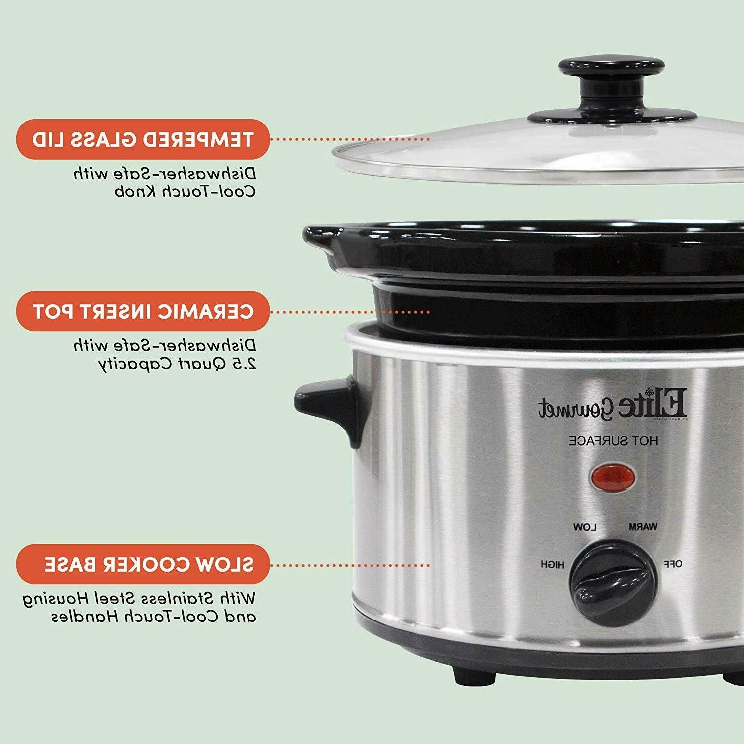 Small Cooker Stainless Steel Crock Mini Kitchen 1.5