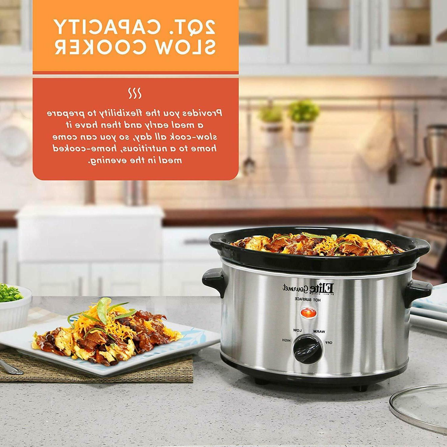 Small Cooker Stainless Steel Crock Kitchen Appliance