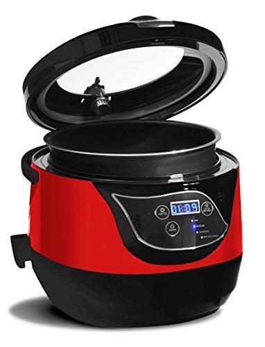 Elite 5.5 Quart Low Pressure Cooker,