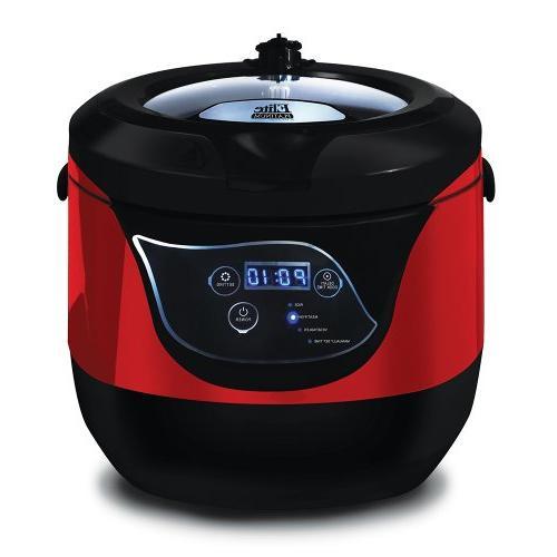 Elite Platinum 5.5 Digital Low Pressure Cooker,