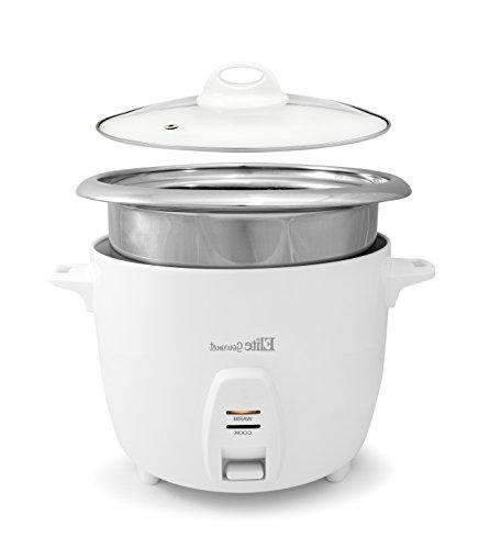 Elite Gourmet ERC-2020 Rice Cooker Steel Inner Soups, Stews, 20 Cooked Cups Cups),