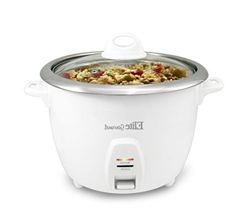 Elite Gourmet Rice Cooker Steel Inner Pot Soups, Stews, Grains, 20 Cups),