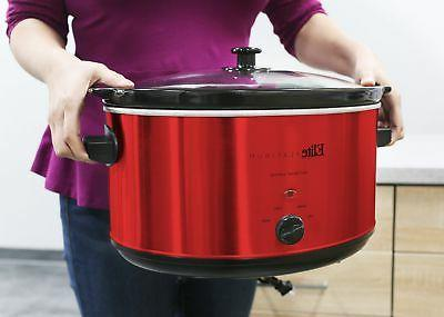 extra large capacity slow cooker stainless steel kitchen hom