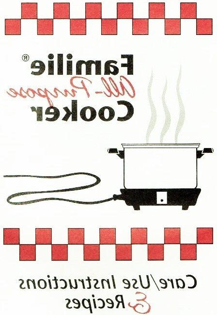 familie slow cooker recipes and instructions cookbook