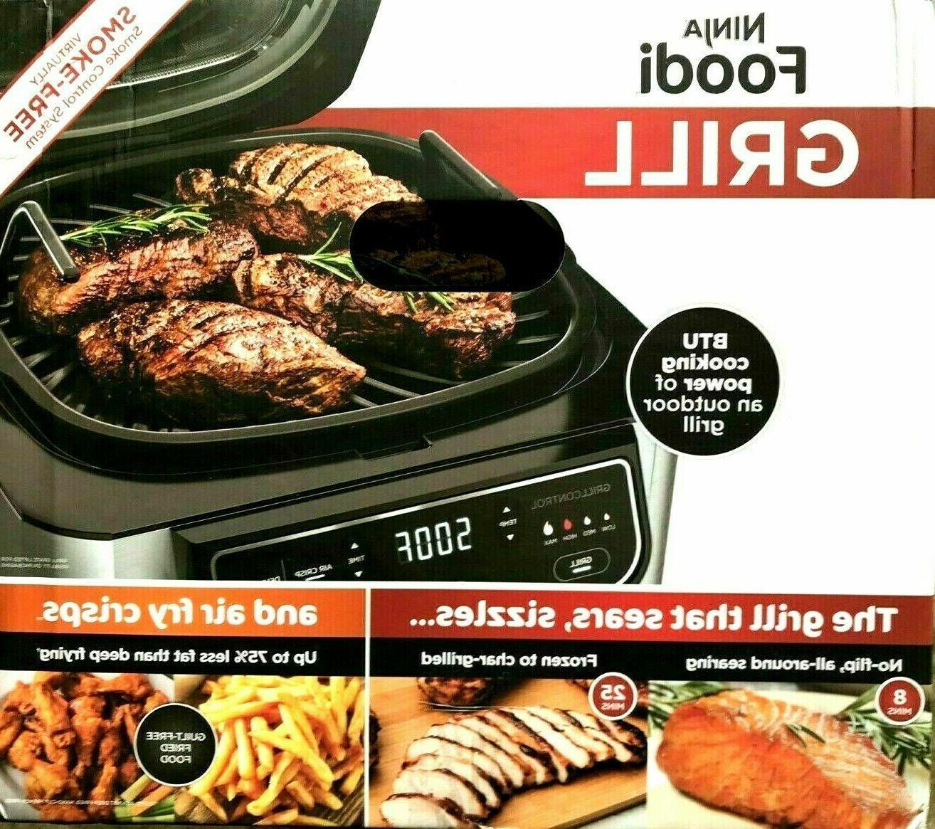 New Ninja Foodi 5-in-1 Indoor Grill with Air Fry, Roast, Bak