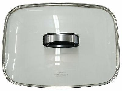 glass cover with handle for 16 electric